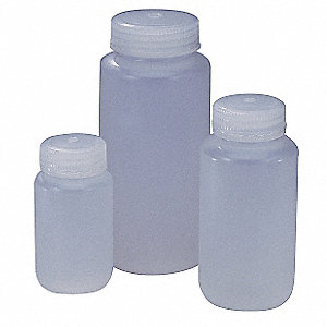 Wide Mouth Boston Round Bottle, Sampling, Plastic, 500mL, Clear, 12 PK