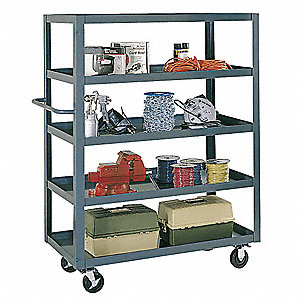 Stock Cart,Flush Top,60x30,5 Shelf