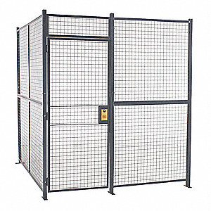 Woven Wire Partition,4 Sided,hinged door