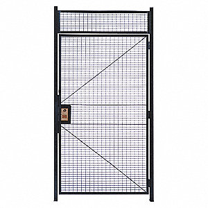 "Hinged Door, Material: Welded Wire, Overall Height: 10 ft. 5-1/4"", Overall Width: 3 ft. 4"""