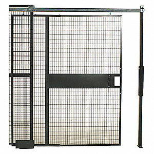 "Sliding Door, Material: Woven Wire, Overall Height: 12 ft. 5-1/4"", Overall Width: 10 ft. 4"""