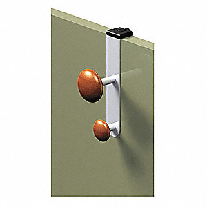 Cubicle Garment Hook,Over Panel,2 Hook