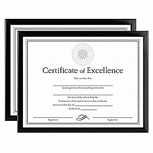 Document Frame,8-1/2x11 In,Black,PK2