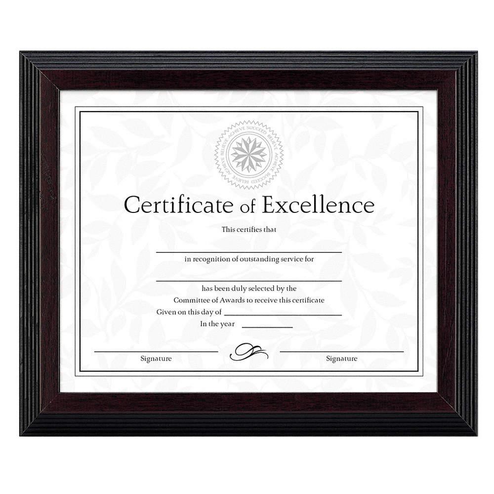 DAX Award/Certificate Frame, 8x10 In. - 35W728 DAXN19880BT - Grainger