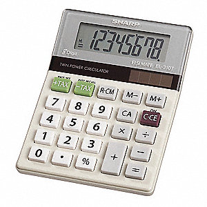 Desktop Calculator,LCD,8 Digit