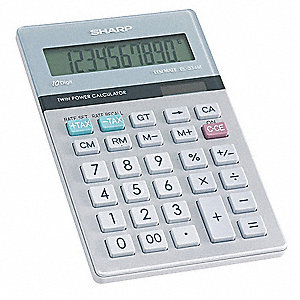 Desktop Calculator,LCD,10 Digit