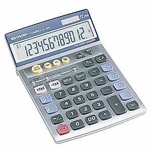 Handheld Calculator,LCD,12 Digit