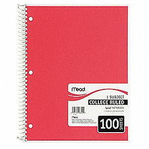 Notebook,11 x 8-1/2 In.