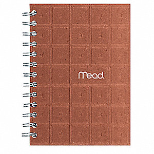 Recycled Notebook,7 x 5 In,Black