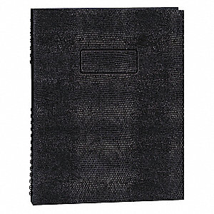 Executive Notebook,11 x 8-1/2 In,Black
