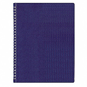 Poly Notebook, 11 x 8-1/2 In, Blue