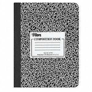 Composition Book,9-3/4 x 7-1/2 In.