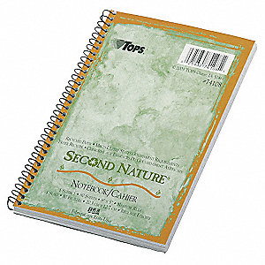 Notebook,8 x 5 In,Green