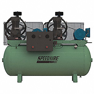 Elec. Air Compressor,Duplex,7.5HP,49CFM