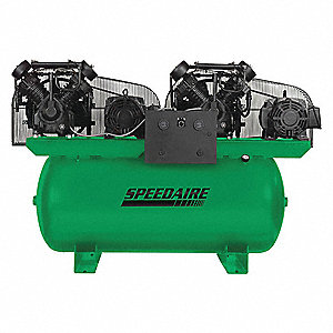 Elec. Air Compressor,Duplex,10HP,72CFM