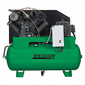 3 Phase - Electrical Horizontal Tank Mounted 20.0HP - Air Compressor Stationary Air Compressor, 120