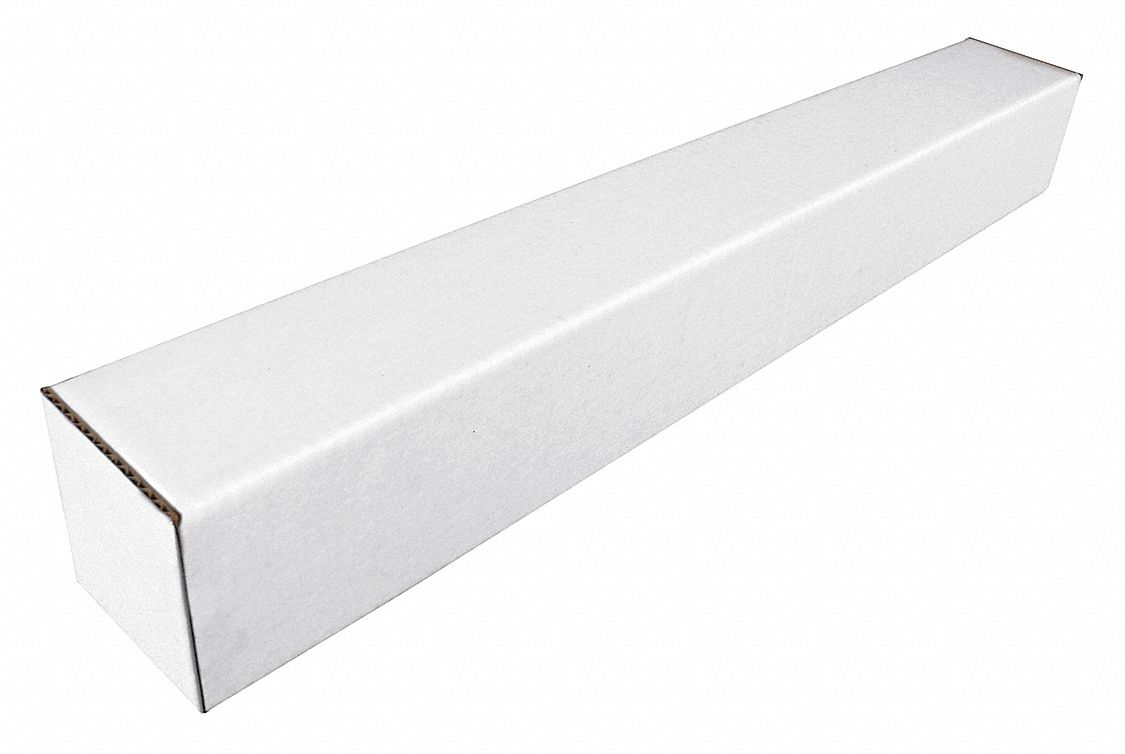 Square,  Mailing Tube,  With Folded Ends,  3x37 in Usable DxL,  3x37x37 in Usable WxDxL