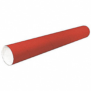 Mailing Tube,24inLx2in.dia,Red,PK50