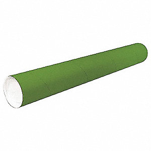 "20"" Circle, Paper Mailing Tube with 2"" Inside Dia., Green; PK50"