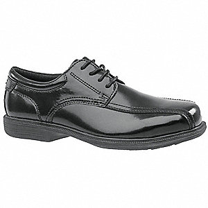 "3""H Men's Oxford Shoes, Steel Toe Type, Leather Upper Material, Black, Size 12EEE"