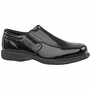 "3""H Men's Oxford Shoes, Steel Toe Type, Leather Upper Material, Black, Size 9-1/2EEE"
