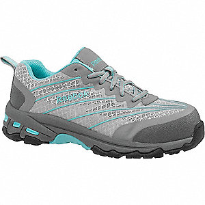 Athletic  Work Shoes,Teal/Gray,8W,PR