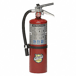 Dry Chemical Fire Extinguisher with 5 lb. Capacity and 13 to 15 sec. Discharge Time