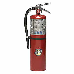 Fire Extinguisher, Dry Chemical, Monoammonium Phosphate, 10 lb., 4A:80B:C UL Rating