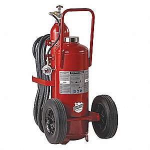 Dry Chemical, ABC Class Wheeled Fire Extinguisher with 125 lb. Capacity and 44 sec. Discharge Time