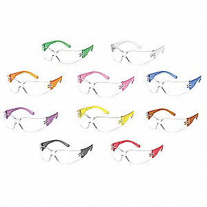 Safety Glasses,Clear,PK10