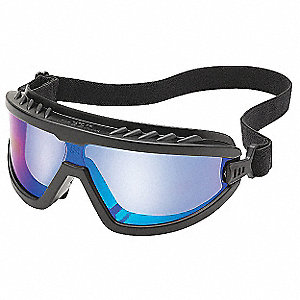 Anti-Fog Protective Goggles, Blue Mirror Lens Color