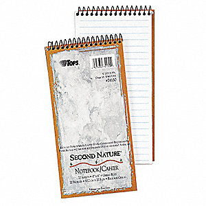 Recycled Notebook,4 x 8 In.