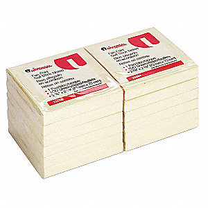 Sticky Notes,Note Pad,3x3 In,Pk 12