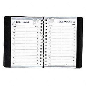 Daily Appointment Book,Memo Size,5x8 In.