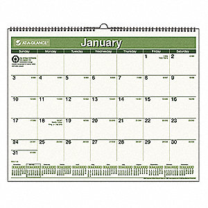 Wall Calendar,Recycled,15x12 In.