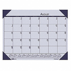 Desk Pad Calendar,18-1/2x13 In,Orchid