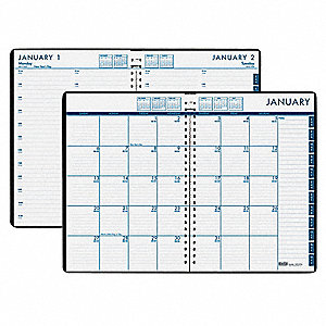 Daily Appt Book/Monthly Planner,7x10 In.