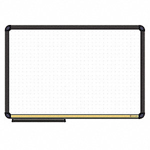 "Magnetic Dry Erase Board With Cork Strip, 48"" Width, 36"" Height"