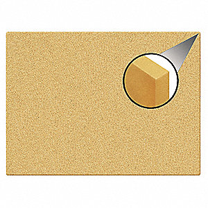 "Natural Cork Cork Canvas Cork Board, Unframed Frame Material, 35"" Width, 23"" Height"