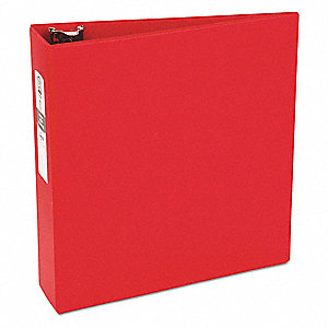 "Red 3"" 3-Ring Binder, 8-1/2"" x 11"" Sheet Size, Vinyl, 460 Sheet Capacity - Binders"