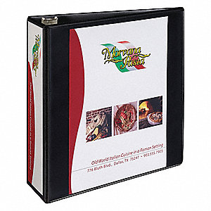 "3"" Heavy Duty Binder, Black, 600-Sheet Capacity"