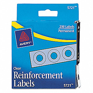 Hole Reinforcement,Roll,Clear,PK200