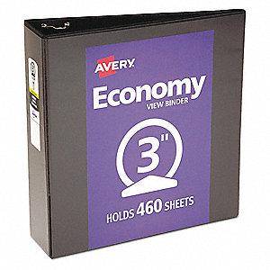 avery black 3 3 ring binder 8 1 2 x 11 sheet size vinyl 460