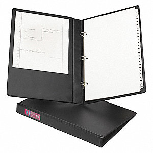 "3-Ring Binder,1"",Black"