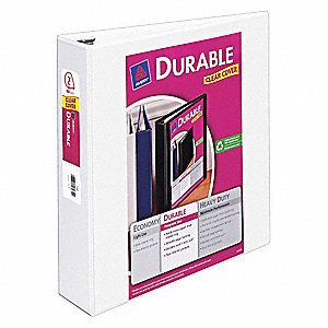 Durable Binder,Slant,2 in.,View,White