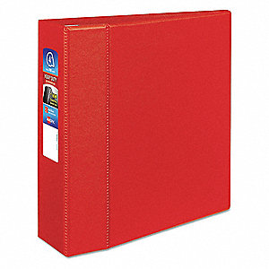 Avery Red 3 3 Ring Binder 8 12 X 11 Sheet Size Polypropylene