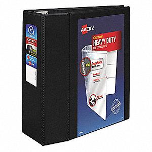 avery black 5 3 ring binder 8 1 2 x 11 sheet size polypropylene
