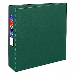 Heavy Duty Binder,3 in.,Standard,Green