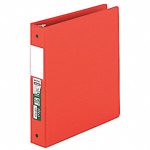 "1-1/2"" Clean Touch® Locking Round Ring Antimicrobial Protected Binder, Red, 350-Sheet Capacity"