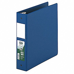 "Dark Blue 2"" 3-Ring Binder, 8-1/2"" x 11"" Sheet Size, Vinyl Covered Chipboard, 450 Sheet Capacity - B"